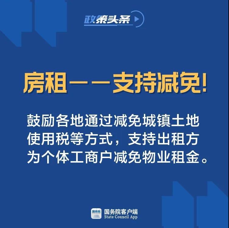 通过减免城镇土地使用税等方式,支持出租方为个体工商户减免物业租金_天成财税